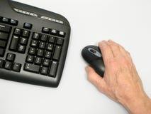 Mão no rato Imagem de Stock Royalty Free