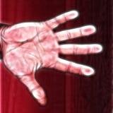 Mão no vermelho Imagens de Stock