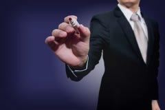 Mão nova do negócio com marca da pena Foto de Stock Royalty Free