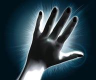 A mão, obscurece o flash ilustração royalty free