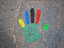 Mão olímpica Imagens de Stock