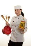 Mão ou cozinheiro chefe da cozinha Fotografia de Stock