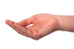 Mão - palma acima fotografia de stock royalty free