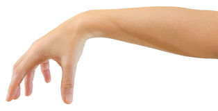 Mão para prender ou deixar cair o objeto Imagens de Stock