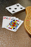Mão perfeita de Cribbage fotos de stock royalty free