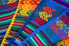 Mão peruana - textura feita imagens de stock