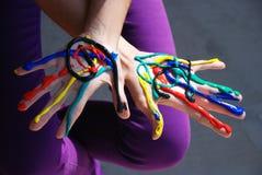 Mão pintada Imagens de Stock Royalty Free