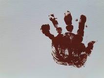 Mão pintada do bebê Fundo imagem de stock