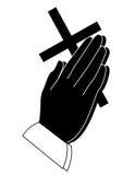 Mão Praying Foto de Stock Royalty Free