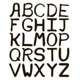 Mão preto e branco alfabeto abstrato tirado Foto de Stock