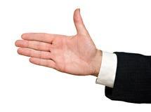 Mão pronta para o aperto de mão fotos de stock