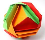 Mão - quadrado feito do origami Fotos de Stock Royalty Free