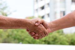 Mão que agita para o acepção do acordo Foto de Stock