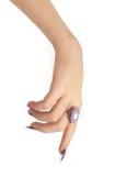Mão que aponta para baixo Imagem de Stock