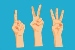 Mão que conta o número 1 2 3 Foto de Stock Royalty Free