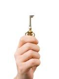 Mão que dá a chave retro imagens de stock