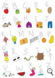 Mão que desenha A a Z Fotografia de Stock Royalty Free