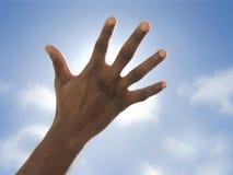 Mão que esconde o sol Fotos de Stock Royalty Free
