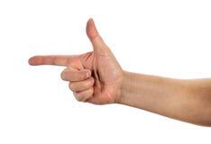 Mão que gesticula a arma Imagem de Stock