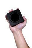 Mão que guarda a caixa negra quadrada Fotos de Stock Royalty Free