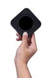 Mão que guarda a caixa quadrada Imagens de Stock Royalty Free