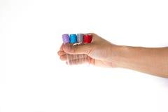 Mão que guarda o laboratório do tubo Fotos de Stock