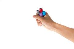 Mão que guarda o laboratório do tubo Imagens de Stock