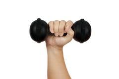 Mão que guarda o peso Imagem de Stock Royalty Free
