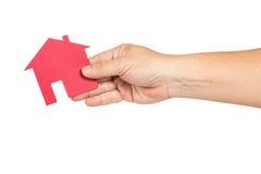 Mão que guarda a representação da casa fotos de stock royalty free