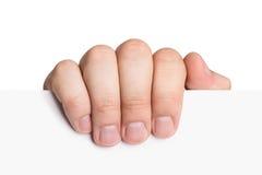 Mão que guardara o papel Imagem de Stock Royalty Free