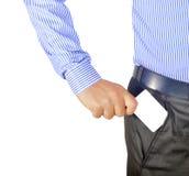 Mão que introduz o cartão no bolso Fotografia de Stock Royalty Free