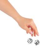A mão que joga dois corta Imagens de Stock Royalty Free