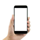 Mão que prende o telefone esperto Imagem de Stock
