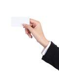 Mão que prende um cartão vazio Foto de Stock Royalty Free