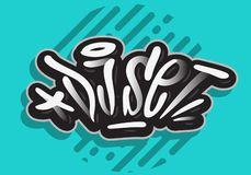 A mão relacionada do partido de Live Music Concert Dj Set tirada escova a rotulação do tipo gráfico da caligrafia de vetor do pro ilustração do vetor