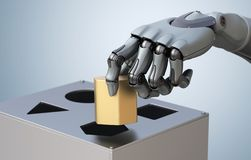 Mão robótico com caixa da lógica ilustração royalty free
