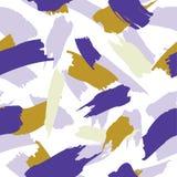 Mão sem emenda abstrata teste padrão tirado da escova ilustração royalty free