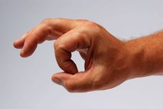 A mão signalizes o okey Foto de Stock