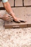 Mão - tijolos feitos Imagem de Stock