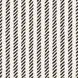 A mão tirada alinha o teste padrão sem emenda Fundo geométrico abstrato da telha Textura preto e branco a mão livre ilustração do vetor