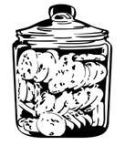 Mão tirada, Crafteroks do eps do vetor do frasco de cookie, svg, arquivo livre, livre do svg, eps, dxf, vetor, logotipo, silhueta ilustração royalty free