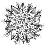 Mão tirada da ilustração das flores Imagem de Stock Royalty Free