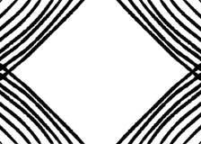 A mão tirada, monocromático abstrato criou do fundo geométrico das formas ilustração stock