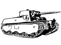 Mão tirada, vetor do eps do vetor do tanque, Eps, logotipo, ícone, ilustração da silhueta por crafteroks para usos diferentes ilustração stock