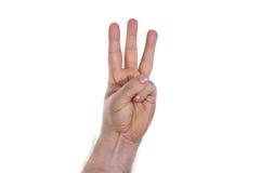 Mão, três dedos Imagem de Stock