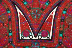 A mão tradicional romena crafted o detalhe do equipamento Imagem de Stock