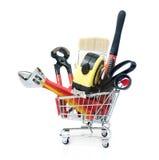 A mão utiliza ferramentas a compra Imagem de Stock Royalty Free