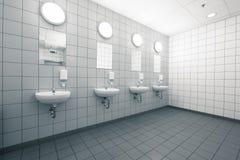 Mão vazia no banheiros públicos limpos Fotografia de Stock
