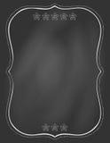 Placa de giz e quadro tirado nele Fotografia de Stock