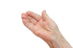 Mão velha Imagem de Stock Royalty Free